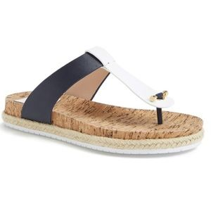 Tory Burch Leather and Cork Thong Sandal
